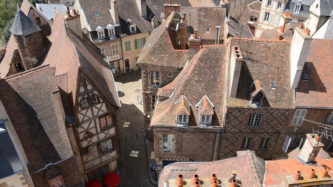 Le quartier historique de Moulins. © JM Teissonnier