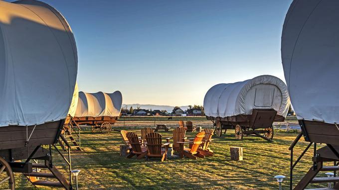 Au Conestoga Ranch, le glamping façon Far West! © DR