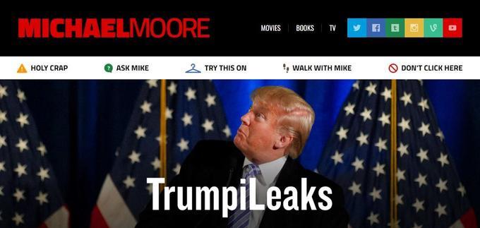 Capture d'écran du site de Michael Moore.