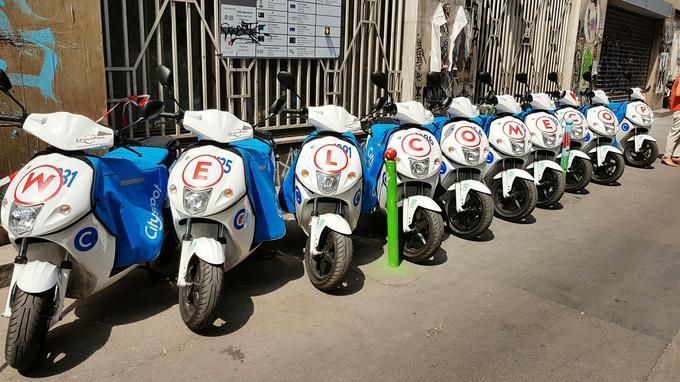 Le message de bienvenue de Cityscoot à COUP. Mober, un troisième opérateur, espère pour sa part lancer 700 machines sur la capitale avec lesquelles on peut circuler à deux, ce qui n'est pas le cas ni pour COUP ni pour Cityscoot, dont l'assurance ne couvre pas le second passager.