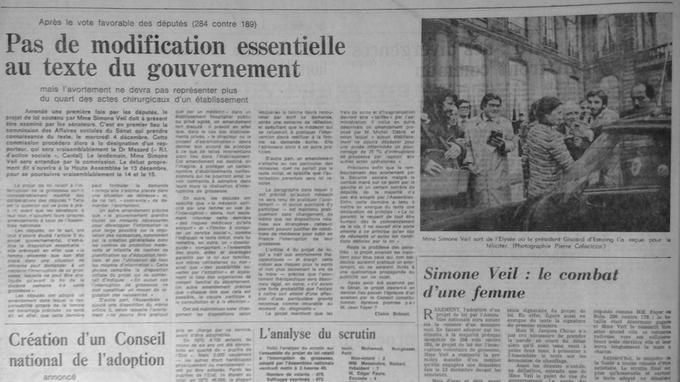 Vote favorable des députés dans Le Figaro du 30 novembre 1974