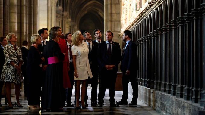 Brigitte Macron et Melania Trump ont visité la cathédrale Notre-Dame-de-Paris.