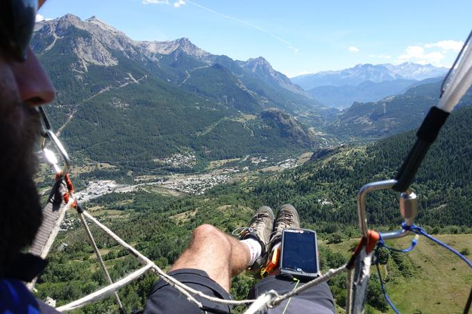 Grâce à l'application Paraglider dashboard, Olivier a pu piloter son parapente depuis son smartphone.