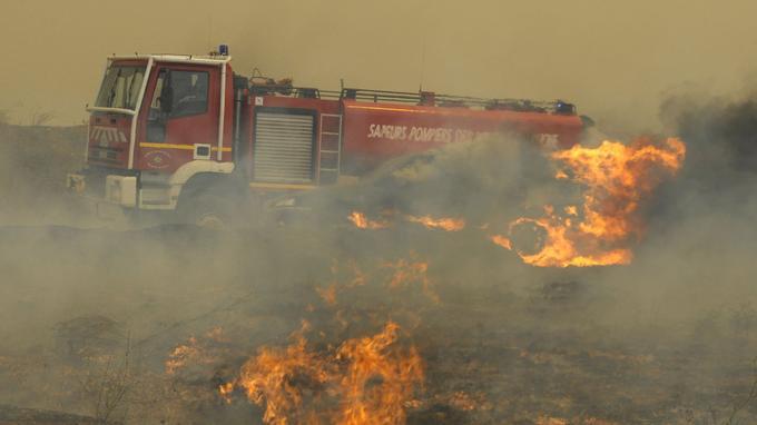 Incendie à Orgon, Bouches-du-Rhône. <i>FRANCK PENNANT / AFP</i>
