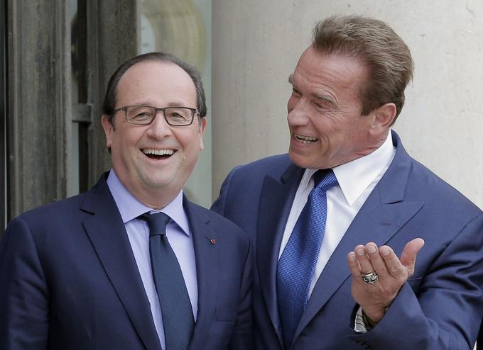 François Hollande et Arnold Schwarzenegger, le 10 octobre 2014.