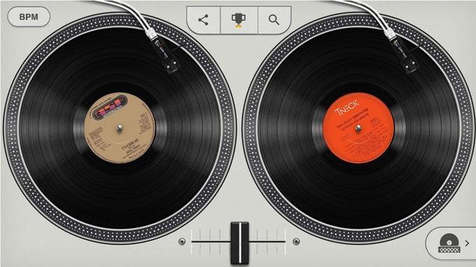 Capture d'écran du doodle hip-hop de Google.