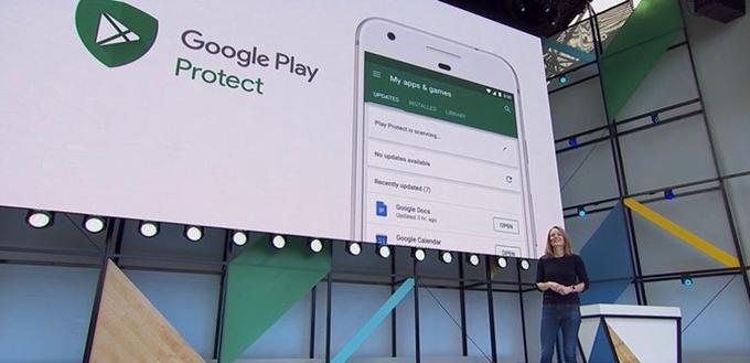 Google Play Protect est l'antivirus d'Android Oreo. (Google I/O 2016)