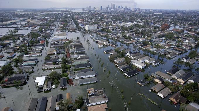 L'ouragan Katrina, en 2005.