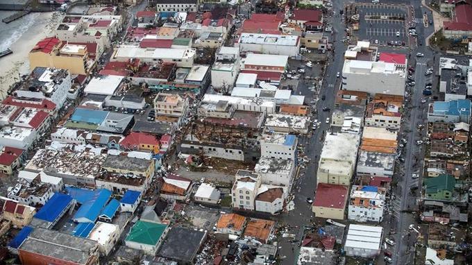 Après le passage d'Irma, l'île de Saint-Martin est détruite à 95% (photo Reuters).