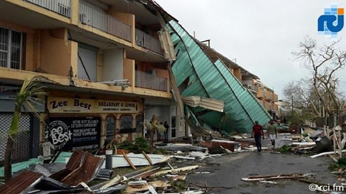 Très peu de bâtiments ont résisté à la tempête.