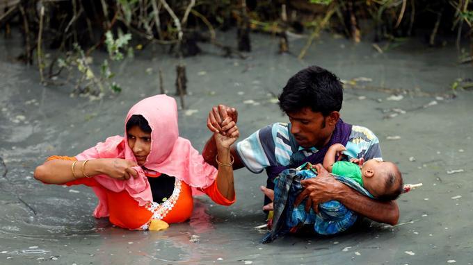 Depuis dix jours, 86 corps ont été retrouvés sur les bords de la rivière Naf, frontière naturelle entre Birmanie et Bangladesh.