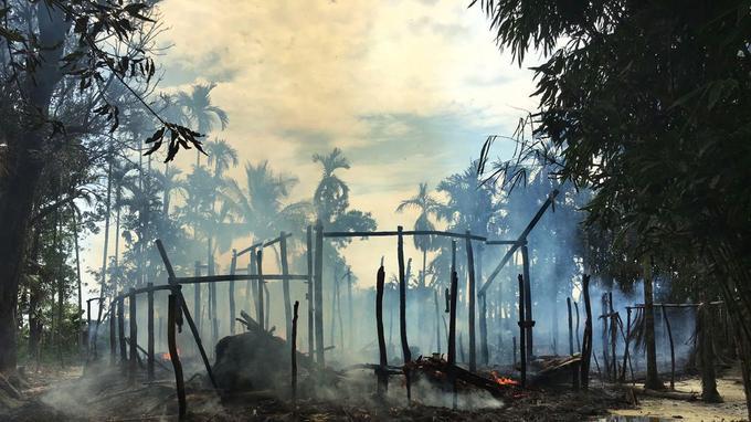 Près de 6600 maisons de Rohingyas et 201 habitations de non musulmans ont également été brûlées depuis le 25 août dans le nord-ouest de la Birmanie.
