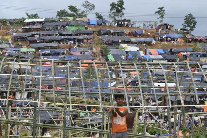 Le camp de réfugiés de Thyangkhali à côté du village de Gumdhum au Bangladesh.