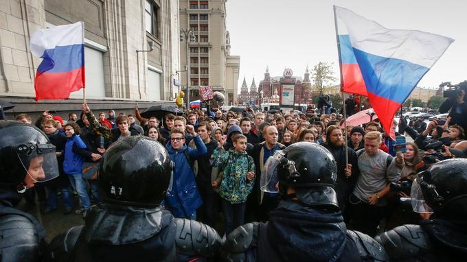 À Moscou, la foule des manifestants était presque exclusivement composée de jeunes moscovites.