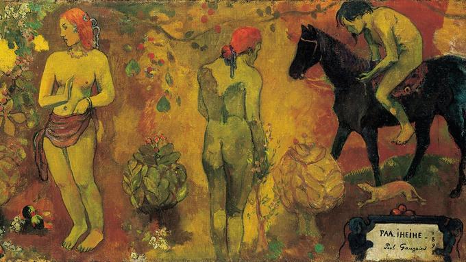 Paul Gaugin, «Faa Iheihe» (Pastorale tahitienne), 1898. Détail.