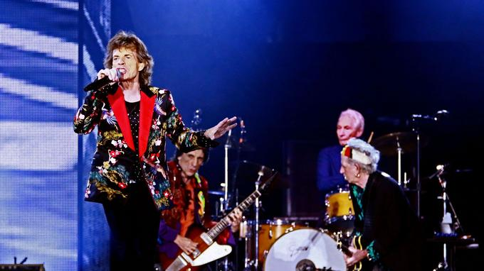 Mick Jagger, Ron Wood, Charlie Watts et Keith Richards.