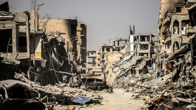 La ville a été détruite à au moins 80%.