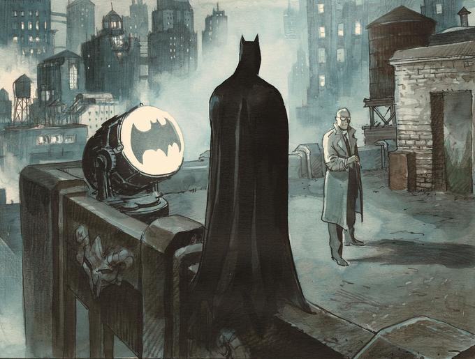 Batman, James Gordon, le projecteur sur le toit du commissariat... Un plan quasi incontournable.