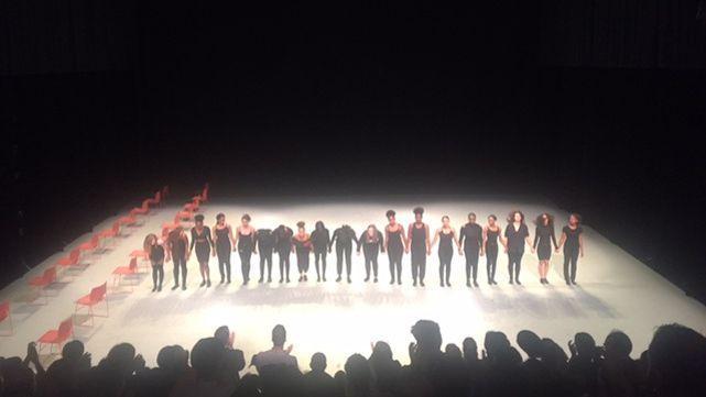 Spectacle aux Grands Ballets canadiens de Montréal.