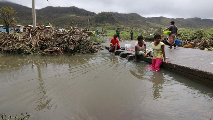 Les îles Fidji après le cyclone Winston en 2016. Le premier ministre de cet archipel, qui va présider la COP23, estime que «le réchauffement climatique a déjà des effets désastreux».