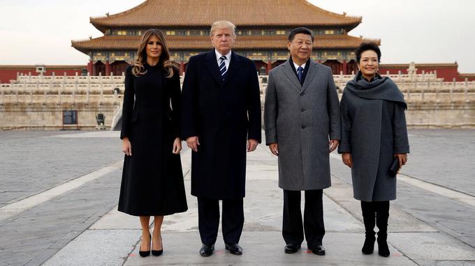 Les époux Trump et Xi à la Cité interdite.