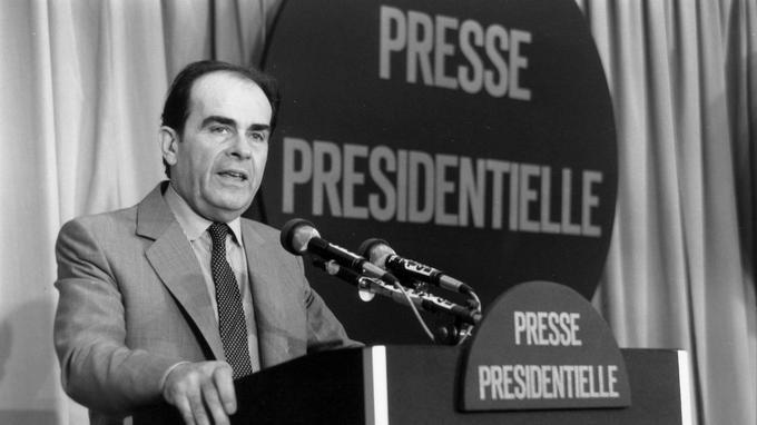 Georges Marchais pendant la campagne présidentielle de 1981.