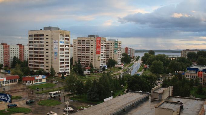 La ville d'Ozersk en août 2008.