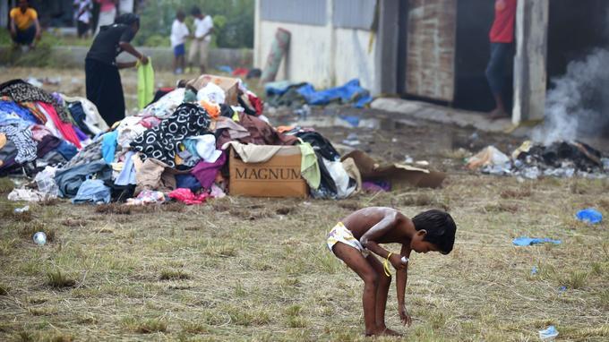 Des enfants dans le village de Maungdaw / AFP
