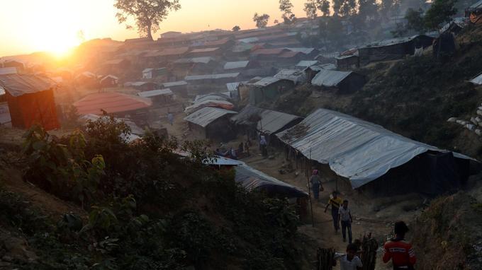 Dans le camp de Balukhali, à proximité de la ville de Cox's Bazar, au Bangladesh, le 30 novembre dernier.