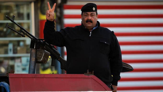 Lors d'une parade militaire dimanche 10 décembre à Bagdad.