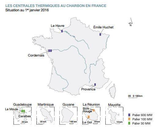 La France compte une dizaine de centrales à charbon.