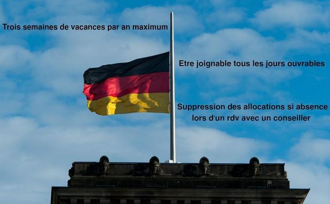 En Allemagne, les chômeurs peuvent toucher des indemnités pendant 12 mois maximum.