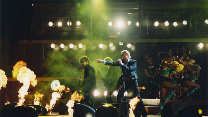 Johnny Hallyday en concert en 2005.