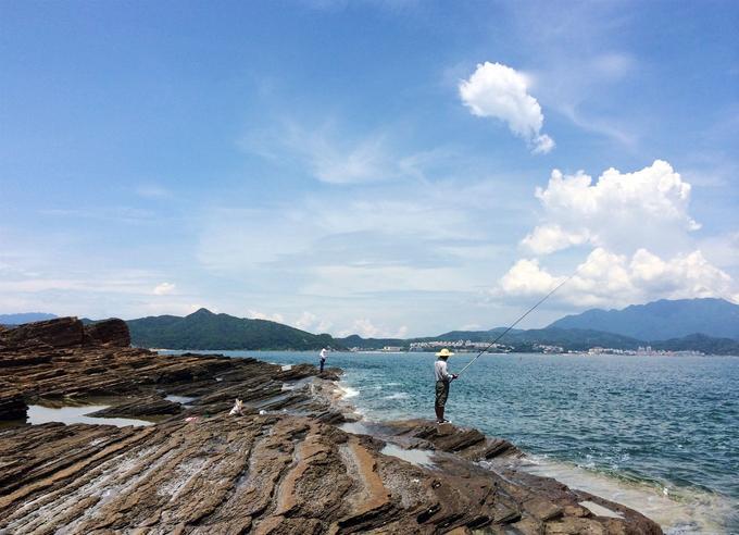 Tung Ping Chau, l'île la plus à l'est de Hongkong, formée de roches sédimentaires. Un géoparc selon le label délivré par l'Unesco..