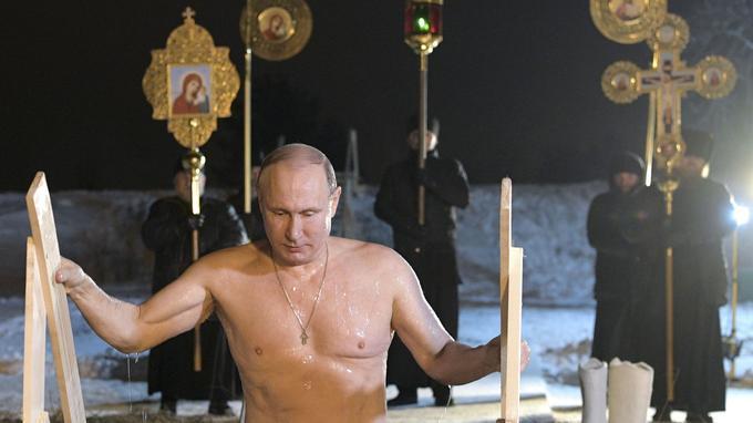 Vladimir Poutine prend l'eau — Epiphanie