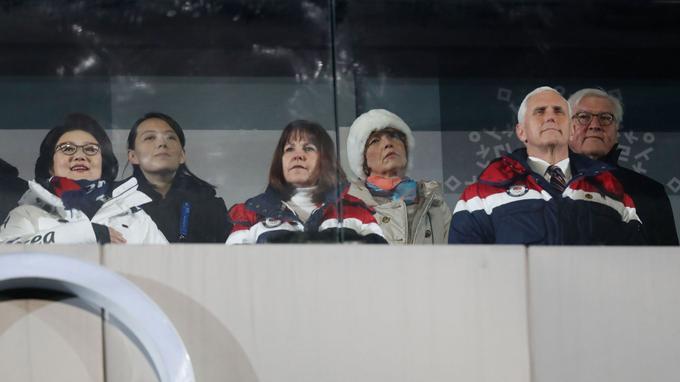 Lors de la cérémonie d'ouverture, Kim Yo-jong a pris place à quelques mètres du vice-président des États-Unis, Mike Pence.