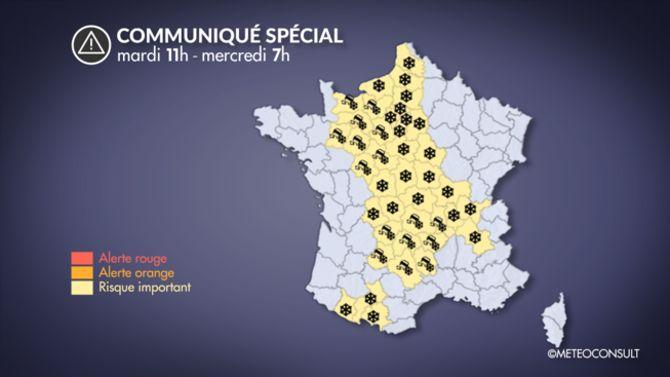 Météo: quelques chutes de neige prévues en Ile-de-France