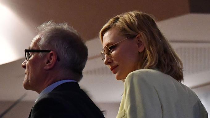 Thierry Frémaux et Cate Blanchett, présidente du jury, lundi 7 mai.