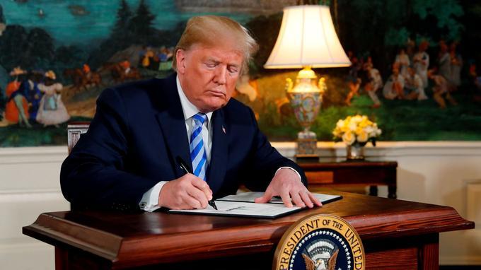 Donald Trump a signifié le retrait des États-Unis de l'accord sur le nucléaire iranien le 8 mai.