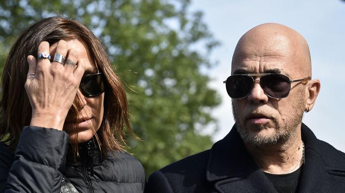 Zazie et Pascal Obispo aux obsèques de Maurane en Belgique le 17 mai 2018.
