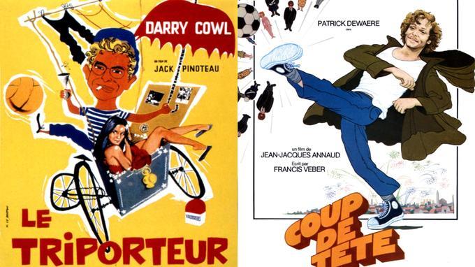 Affiches du «Triporteur» et de «Coup de tête».