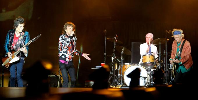 Mick Jagger, Keith Richards, Ron Wood et Charlie Watts.