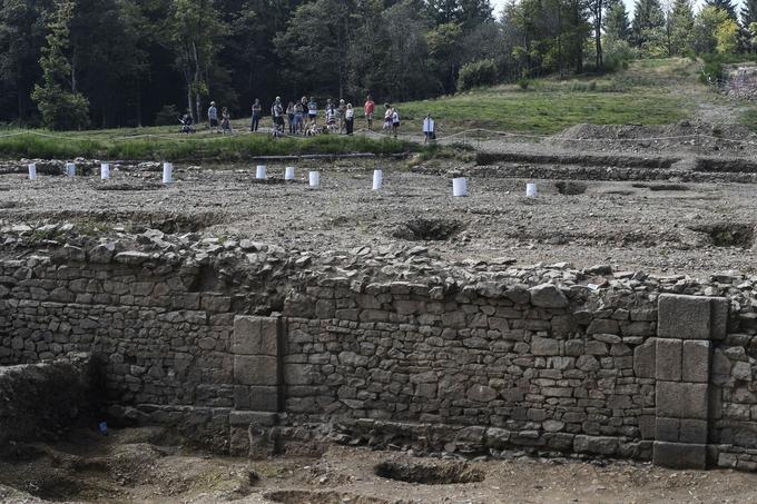 Les vestiges de la cité gauloise de Bibracte au Mont Beuvray à Saint-Leger-sous-Beuvray. Crédits photo: AFP