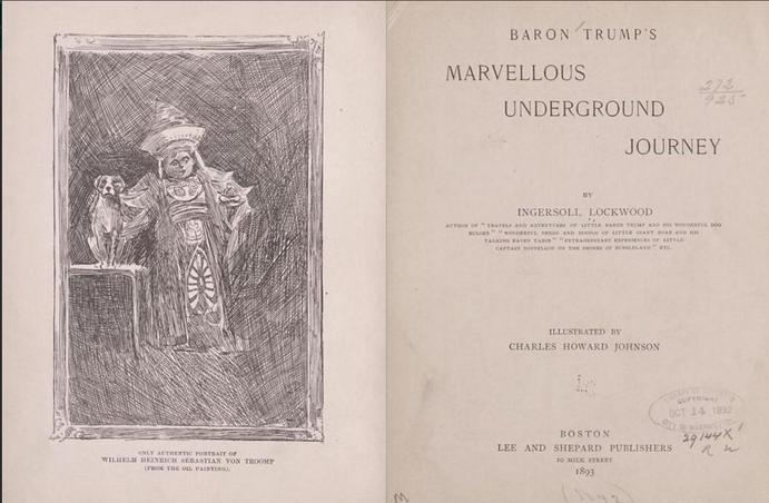 Intérieur du conte de Lockwood, écrit en 1893. Crédits photo: Capture Twitter.