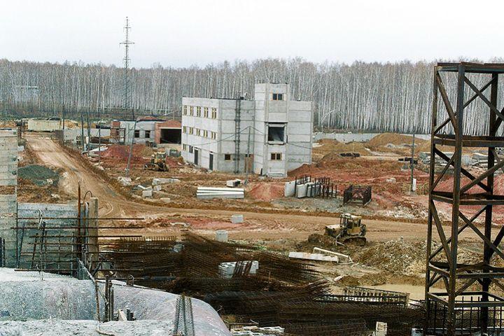 Sur cette photo non datée prise par un ingénieur de l'armée américaine, on aperçoit la partie sud des bâtiments d'administration et de sécurité sur le site de Maïak.
