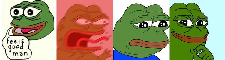 Différentes formes de Pepe
