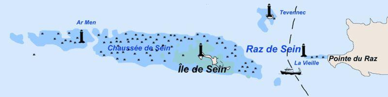 Le phare de Tévennec au large de la pointe du Raz, dans le Finistère. (Crédit: ccpline/wikimedia.)