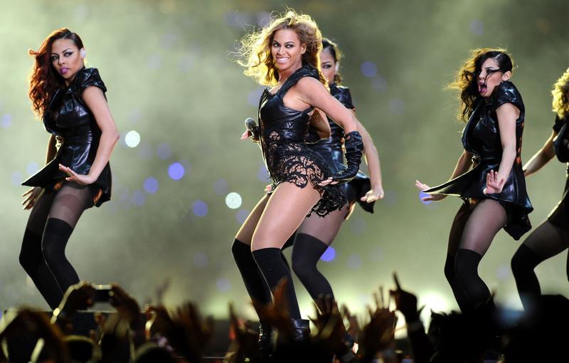 Beyoncé lors de la mi-temps du Super Bowl, en 2013.