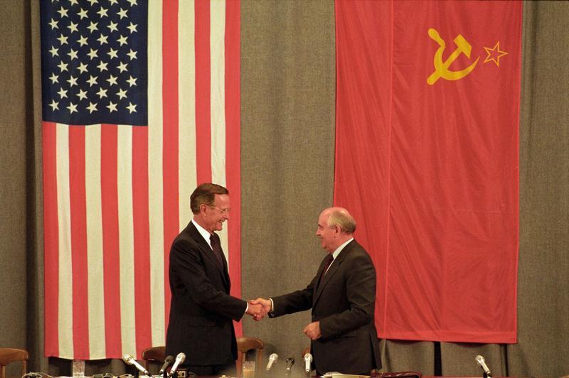 31juillet 1991. Conférence à Moscou. Une stratégie d'amitié, tout en attendant la désagrégation de l'URSS de manière pacifique.