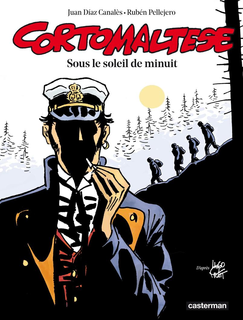 La couverture assez mystérieuse du nouvel album de Corto Maltese, Sous le soleil de minuit.